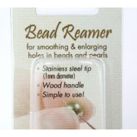 Reamer for Enlarging Holes in Beads and Pearls, 1mm Fine Tip