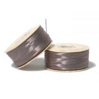 Size 0 Grey Nylon Nymo Thread, 115 yd Bobbin
