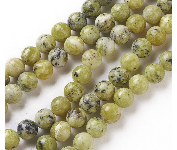 Yellow Turquoise Beads, Mustard, 8mm Round
