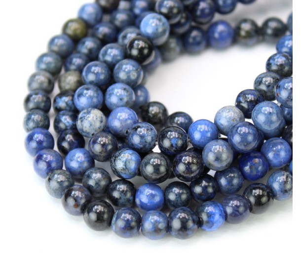 Dumortierite Beads, Dark Blue, 6mm Round