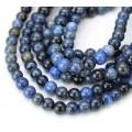 Dumortierite Beads, Dark Blue, 6mm Round