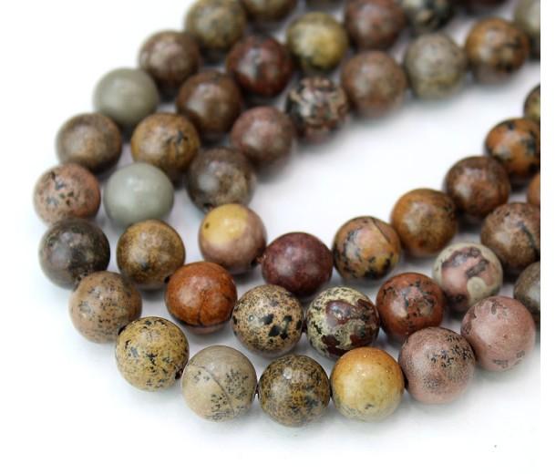 Artistic Jasper Beads, Natural, 8mm Round