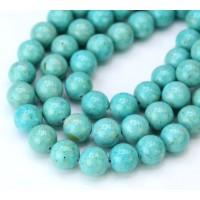 River Stone Jasper Beads, Blue Teal, 8mm Round