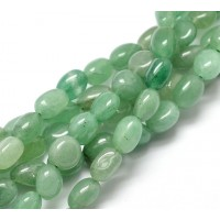 Green Aventurine Beads, Natural, Small Nugget