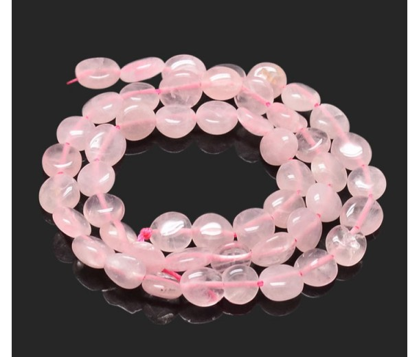 Rose Quartz Beads, Pink, Small Nugget