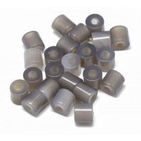 Grey Agate Beads, Natural, 9x9mm Column, 3mm Hole, Pack of 5