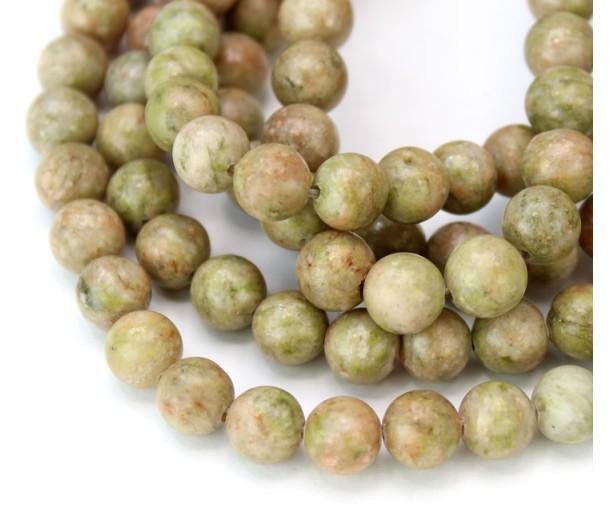 Autumn Jasper Beads, Natural, 8mm Round