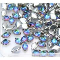 8x5mm Matubo GemDuo 2-Hole Seed Beads, Backlit Petroleum, 10 Gram Bag