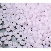 2x5mm Matubo SuperDuo 2-Hole Seed Beads, Matte Milky Rosaline, 10 Gram Bag