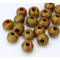 8mm Round Matte Ceramic Beads, Autumn Mix, Pack of 10