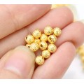 4mm Round Premium Stardust Beads, Gold Plated, Pack of 50