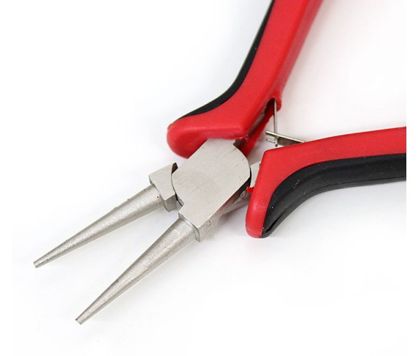 Round Nose Pliers for Making Loops, Black and Red