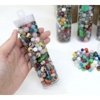 Party in a Tube Bead Mix, Various Sizes..