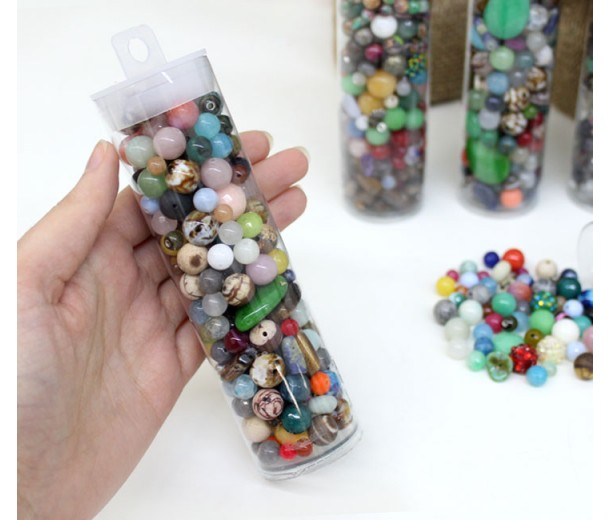 Party in a Tube Bead Mix, Various Sizes and Colors, 6 Inch Tube