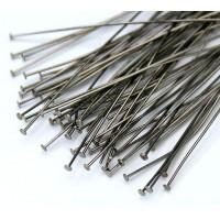 3 Inch 24 Gauge Head Pins, Gunmetal, Pack of 100