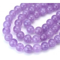Amethyst Beads, Natural Light Purple, 8mm Round