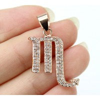 22mm Scorpio Zodiac Sign Cubic Zirconia Pendant, Rose Gold Tone