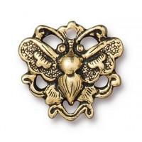 17mm Art Nouveau Butterfly Link by TierraCast, Antique Gold