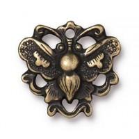 17mm Art Nouveau Butterfly Link by TierraCast, Antique Brass