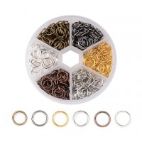 Jump Ring Mix with Organizer, 10mm, Assorted Finish