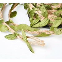 Decorative Leaf Hemp Cord, Sold by 10m Roll