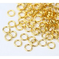 5mm 20 Gauge Open Jump Rings, Round, Gold Plated, Pack of 100