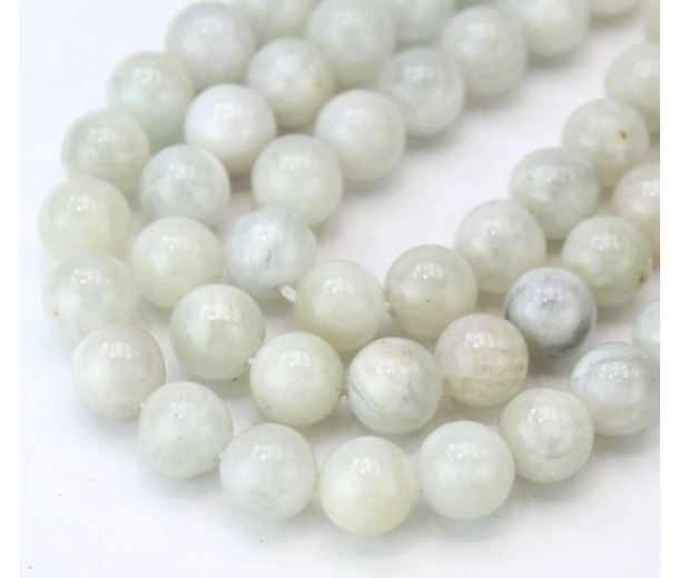 Moonstone Beads, Natural Grey, 8mm Round
