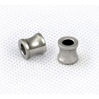 8mm Simple Concave Tube Beads, Stainless Steel, Pack of 5