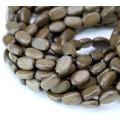 Greywood Beads, Grey Brown, 8x11mm Flat Oval