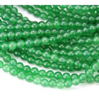 Green Aventurine Beads, Dyed, 4mm Round