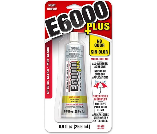 New Formula E6000 Jewelry and Bead Glue Adhesive, 0.9 Oz Tube