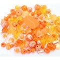 Acrylic Beads, Citrus Mix, Various Sizes and Shapes