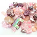 Acrylic Beads, Blush Pink Mix, Various Sizes and Shapes, 50 Gram Bag