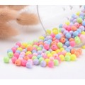 Opaque Pastel Acrylic Beads, Color Mix, 6mm Round