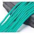 Polymer Clay Beads, Medium Teal, 4mm Heishi Disk