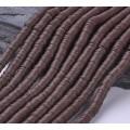 Polymer Clay Beads, Dark Brown, 6mm Heishi Disk