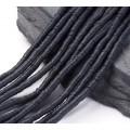 Polymer Clay Beads, Black, 4mm Heishi Disk