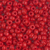6/0 Miyuki Round Rocaille Seed Beads, Opaque Dark Red, 20 Gram Bag