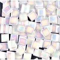 5x5mm Miyuki Tila Beads, Rainbow White, 10 Gram Bag