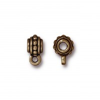 10mm Beaded Slider Bail by TierraCast, Antique Brass