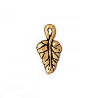 16mm Ivy Leaf Charm by TierraCast, Antique Gold