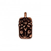 17mm Floating Lotus Drop by TierraCast, Antique Copper, 1 Piece