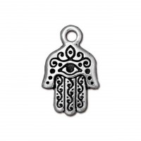 21mm Hamsa Hand Charm by TierraCast, Antique Silver