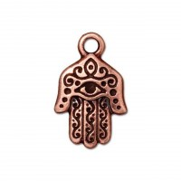 21mm Hamsa Hand Charm by TierraCast, Antique Copper