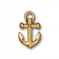 20mm Anchor Drop by TierraCast, Antique Gold