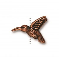 13mm Hummingbird Bead by TierraCast, Antique Copper