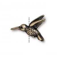 13mm Hummingbird Bead by TierraCast, Antique Brass