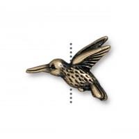 13mm Hummingbird Bead by TierraCast, Antique Brass