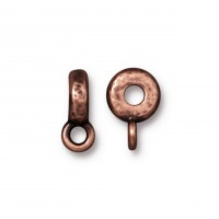 12mm Hammered Slider Bail by TierraCast, Antique Copper