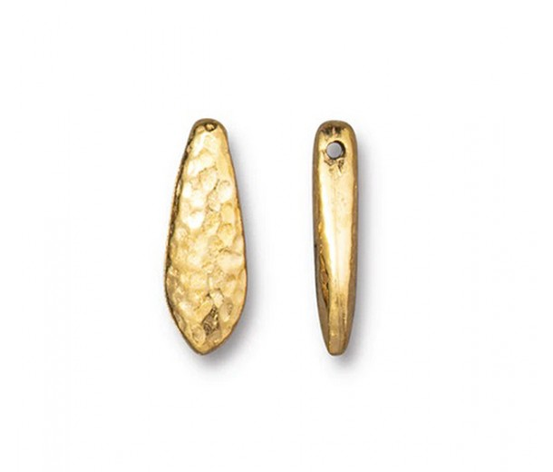 15mm Hammertone Dagger Bead by TierraCast, Gold Plated